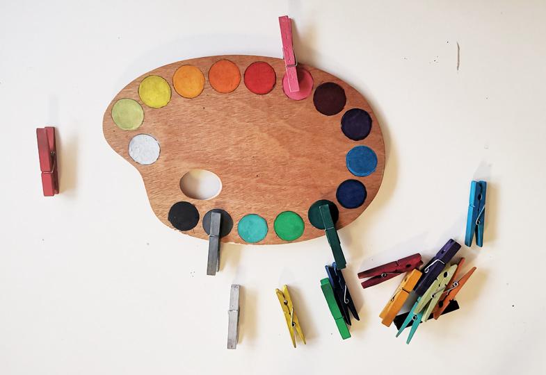 Die Farbpalette Pädagogisches Material Selbst Hergestellt