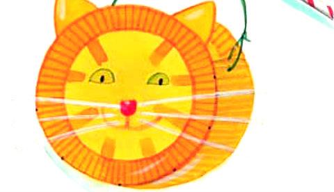 Basteln Mit Papptellern Katzenlaterne Kizz