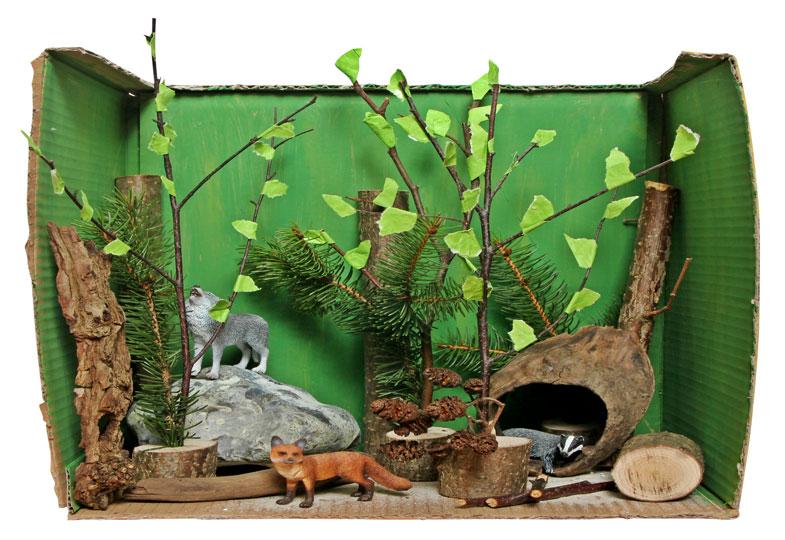 Wir Basteln Einen Zoo Wilde Tiere Im Karton Kizz