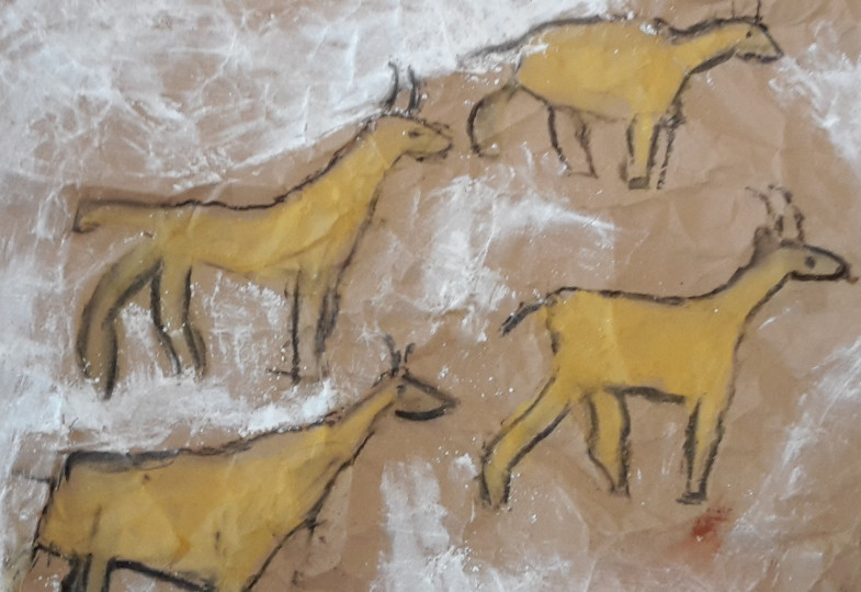 Mit Kindern Malen Wie In Der Steinzeit Eine Kreative Idee Für Den