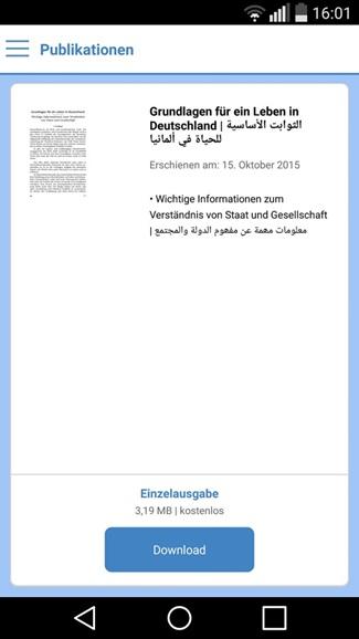 Deutschland - Erste Informationen für Flüchtlinge 2