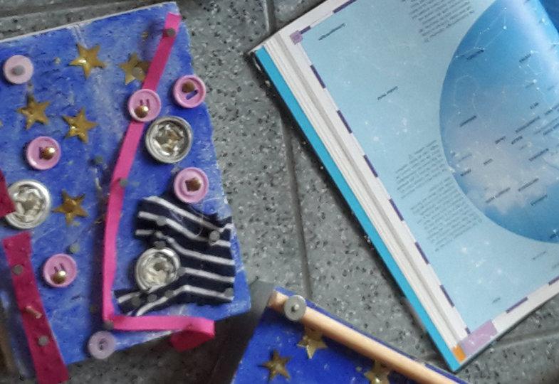 Ein Sternenhimmel in Stein geritzt: Eine kreative Idee mit Porenbeton