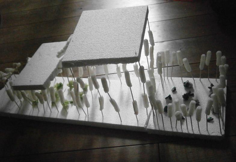 Eishöhlen und andere Traumhäuser. Eine kreative Idee aus Styropor und Zahnstochern