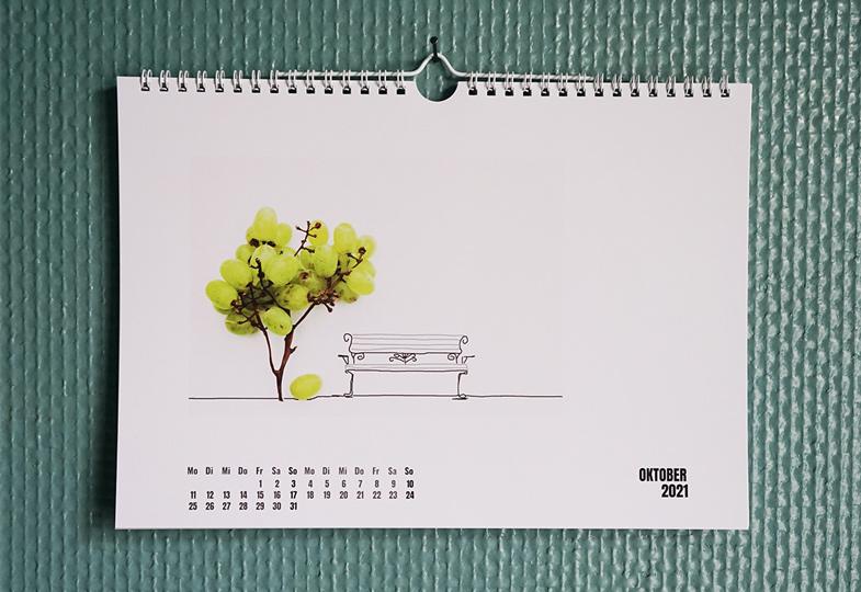 Gewinnspiel Wandkalender Herr Grün 2