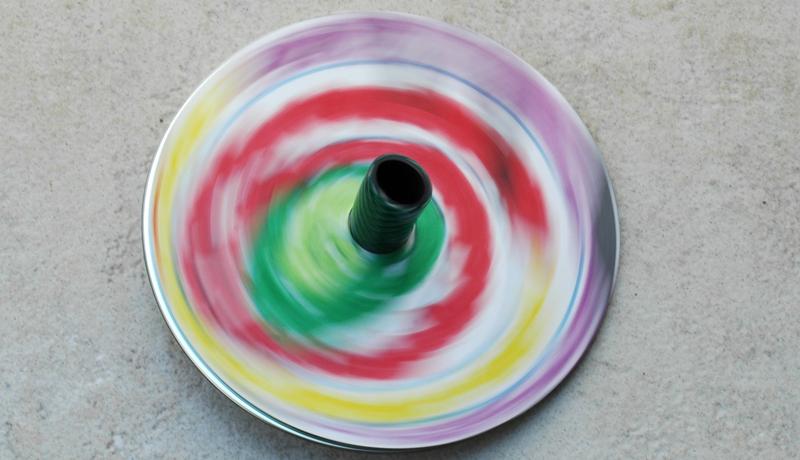 Basteln mit alten CDs: Superkreisel 2