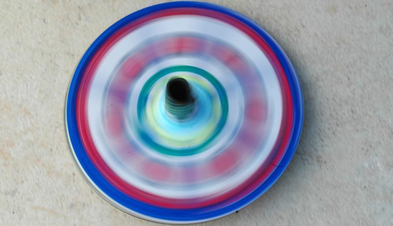 Basteln mit alten CDs: Superkreisel 3