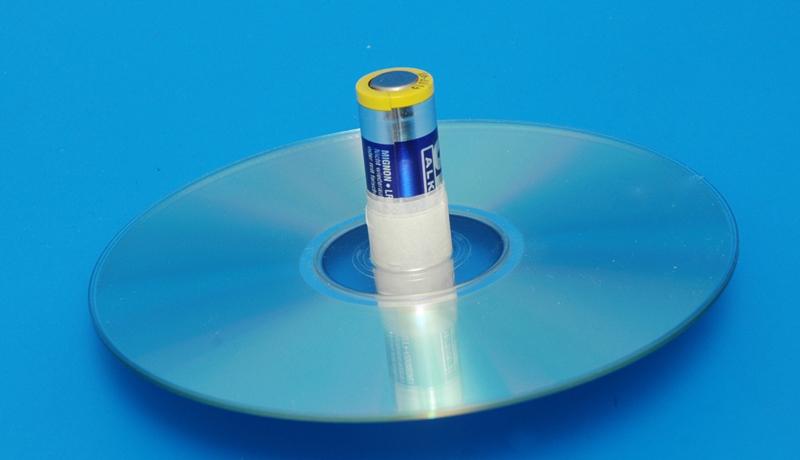 Basteln mit alten CDs: Superkreisel 4