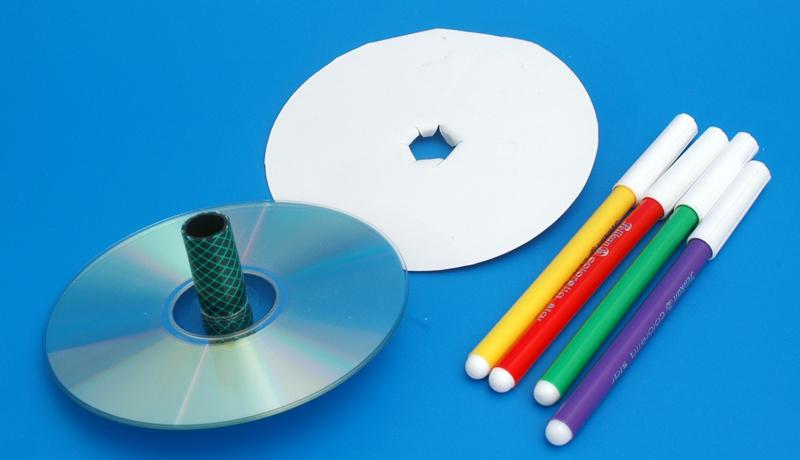 Basteln mit alten CDs: Superkreisel 5