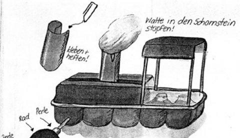 Basteln mit Eierkartons: Ei, Ei, Eisenbahn