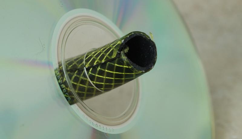 Basteln mit gebrauchten CDs: Das verrückte Zwei-Rad 2