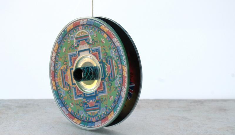 Basteln mit Recyclingmaterial: CD-Jo-Jo 1