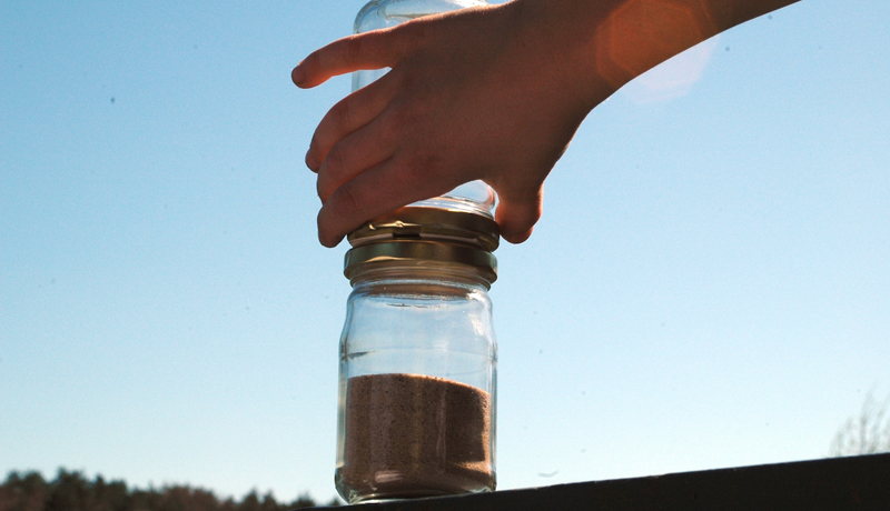 Die Zeit verinnt im Marmeladenglas: Lustige Sanduhr 2