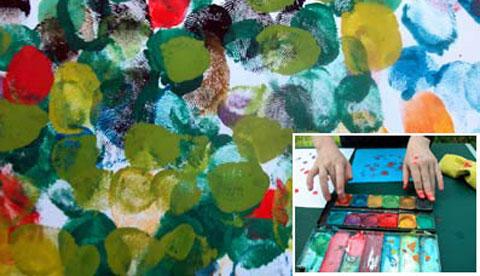 Drucken mit Hand und Fuß: Farbenfrohe Abdrücke 1