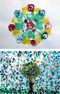 Drucken mit Hand und Fuß: Farbenfrohe Abdrücke 4