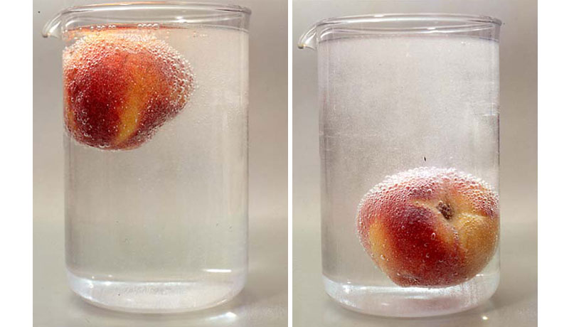 Experiment mit Kohlensäure: Nudel im Sprudel