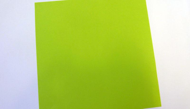 Faltanleitung: Wetterfrosch aus Papier, Schritt 1