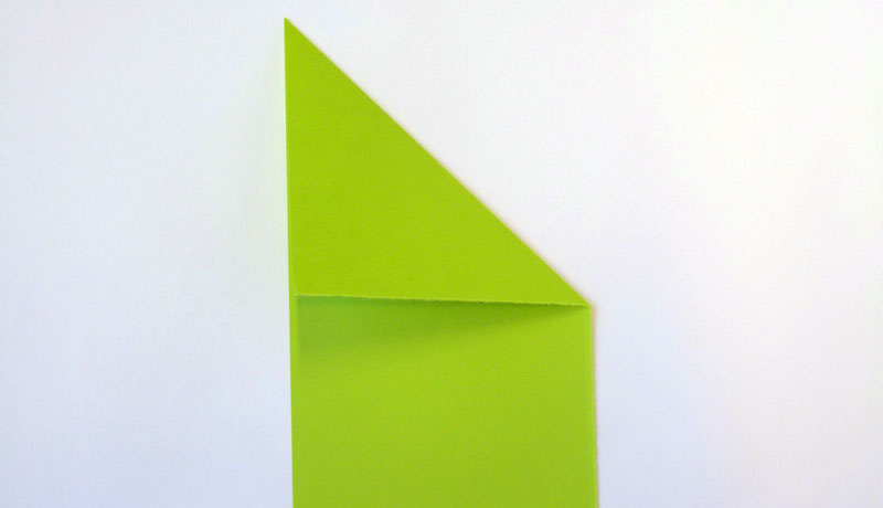 Faltanleitung: Wetterfrosch aus Papier, Schritt 3