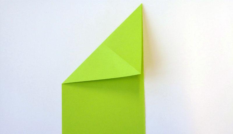 Faltanleitung: Wetterfrosch aus Papier, Schritt 4