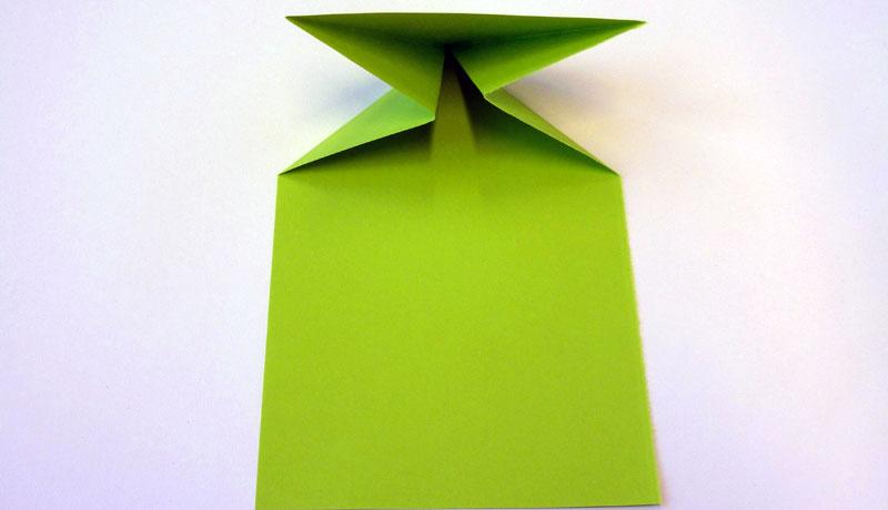 Faltanleitung: Wetterfrosch aus Papier, Schritt 5