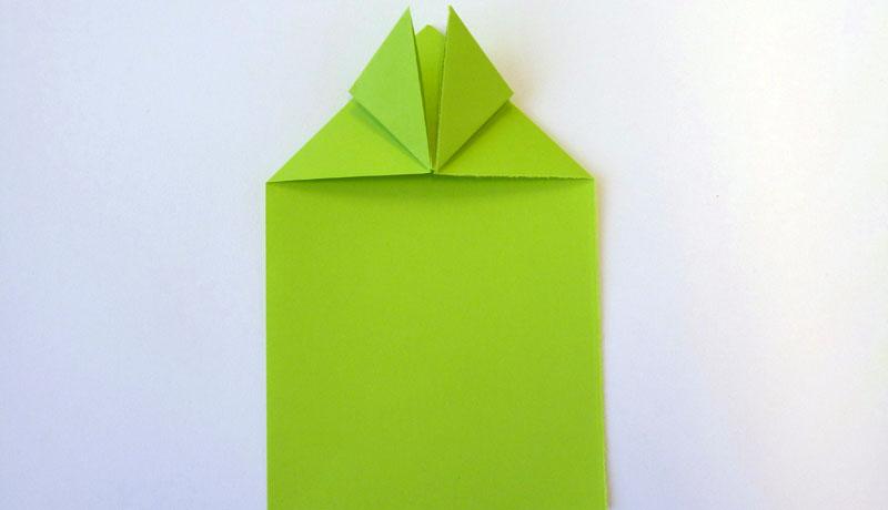 Faltanleitung: Wetterfrosch aus Papier, Schritt 6