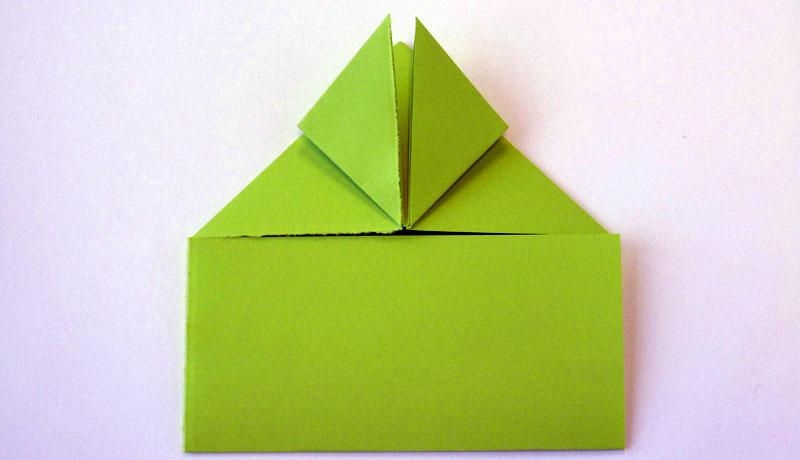 Faltanleitung: Wetterfrosch aus Papier, Schritt 7