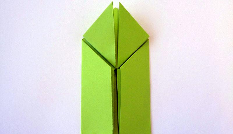 Faltanleitung: Wetterfrosch aus Papier, Schritt 8