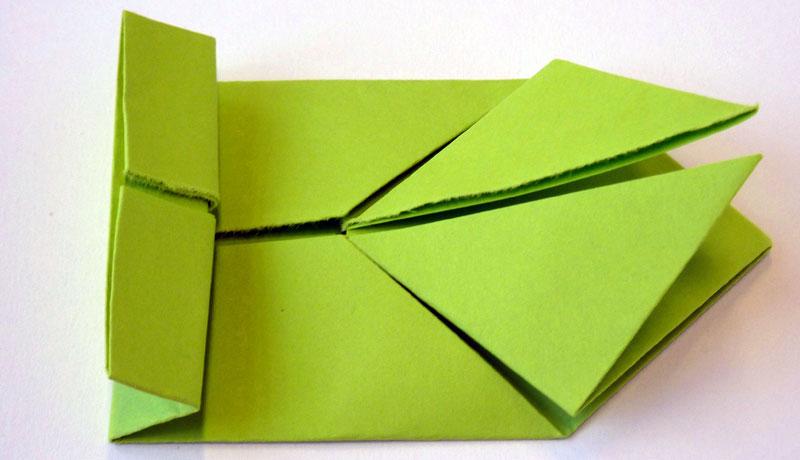 Faltanleitung: Wetterfrosch aus Papier, Schritt 10