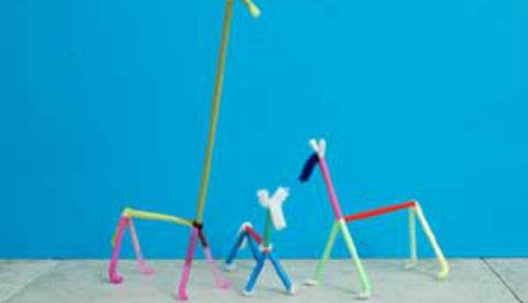 Figuren aus Pfeifenputzern : Moderne Kunst