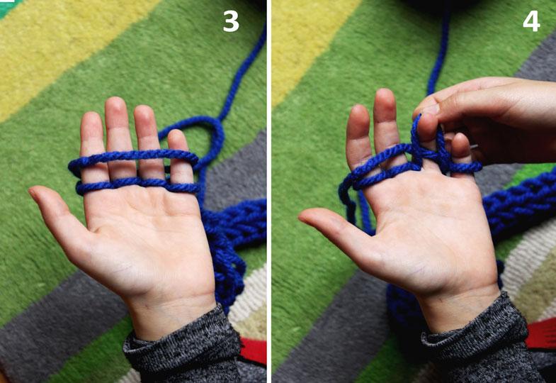 Ganz ohne Nadeln: Finger stricken