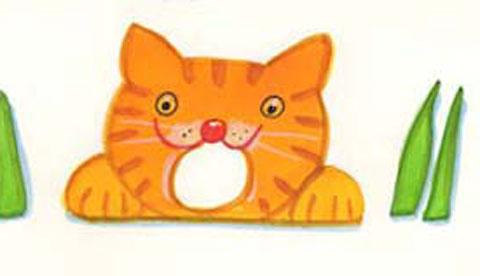 Geschicklichkeitsspiel aus Pappe: Hungrige Katze 2