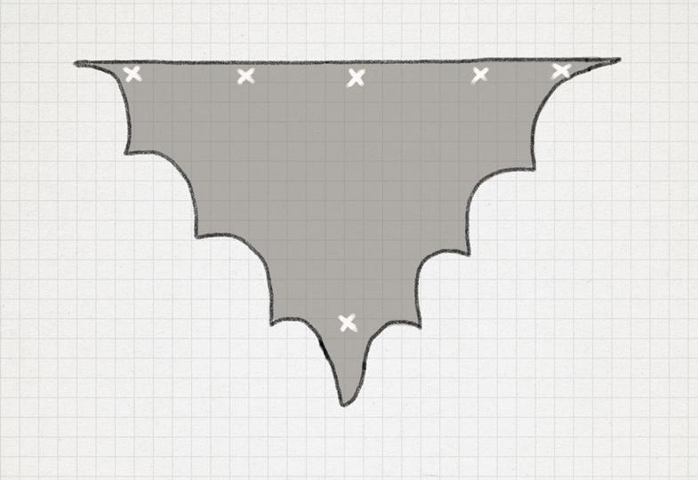 Positionen für die Knöpfe am Flügel aufzeichnen
