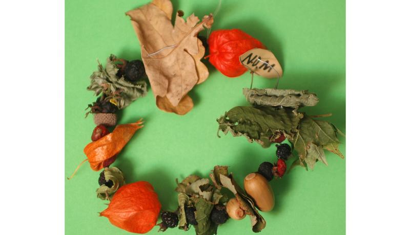 Ketten aus Naturmaterialien : Herbstlicher Schmuck 3