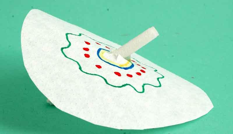Kunstvolle Filtertüten: Farbkringel auf Wanderschaft 2