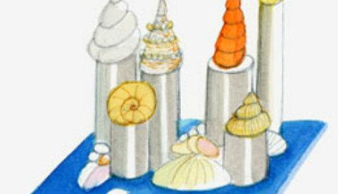 Kunstwerk aus Urlaubsouvenirs: Muschelpalast 3