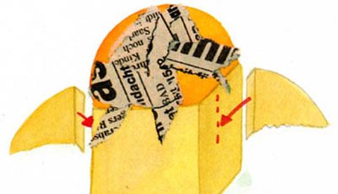 Laterne aus Kleisterpapier: Lichter-Eule 2