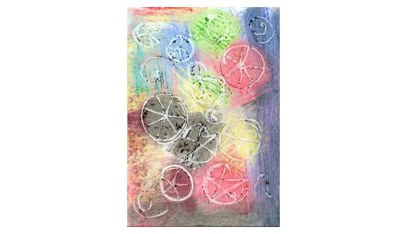 Malen mit Kleber: Gecremte Pastelltöne 2