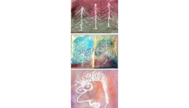 Malen mit Kleber: Gecremte Pastelltöne 3