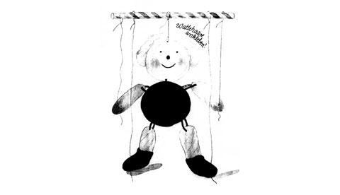 marionette-aus-kleisterpapier-tanzmariechen