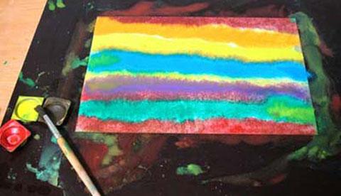 Nass-in-Nass-Technik: Fließende Farben 1