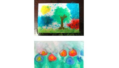 Nass-in-Nass-Technik: Fließende Farben 3
