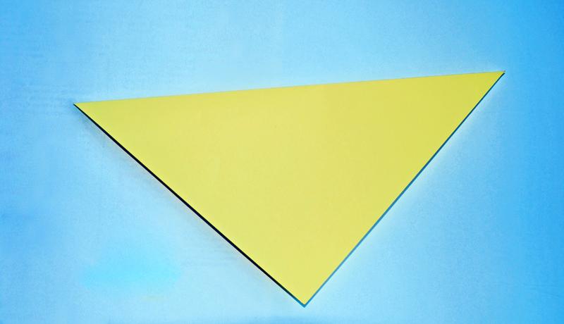 Oster-Origami: Putziger Papierhase, Schritt 1