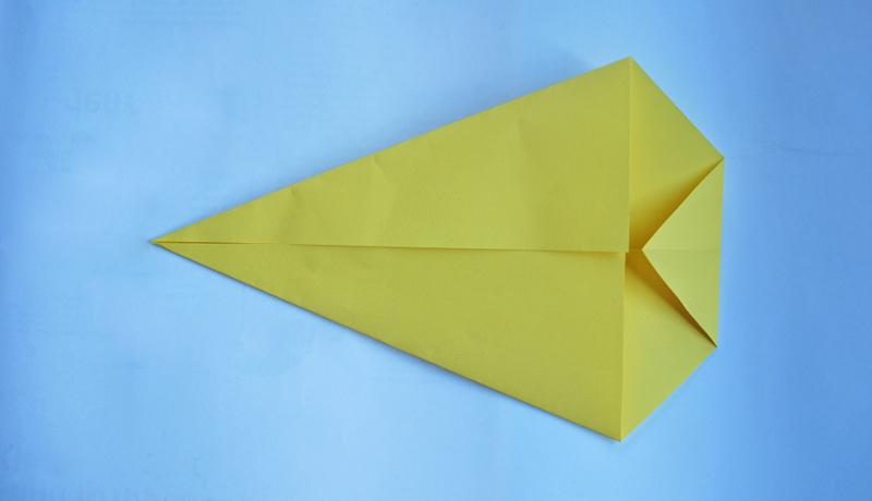 Oster-Origami: Putziger Papierhase, Schritt 3