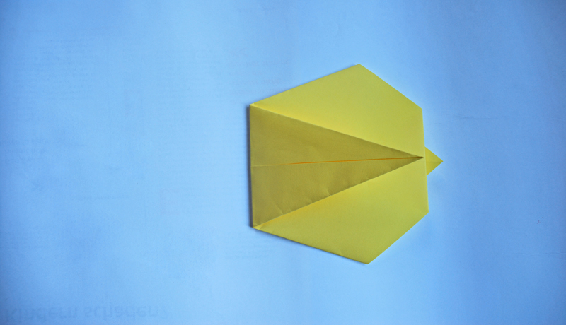 Oster-Origami: Putziger Papierhase, Schritt 5
