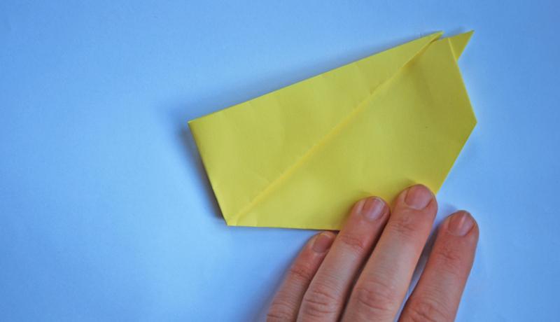 Oster-Origami: Putziger Papierhase, Schritt 6