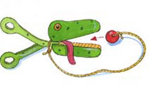 Reaktionsspiel aus einer Grillzange: Schnappi, das Krokodil 3