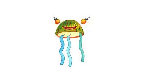 Schwimmtier aus Styropor: Schwimmkrake 3