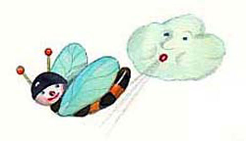 windspiel-aus-bastelresten--glitzernde-windbiene