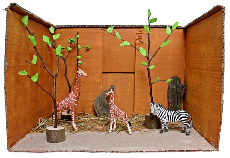 Ob Zebras und Giraffen aus der afrikanischen Savanne…