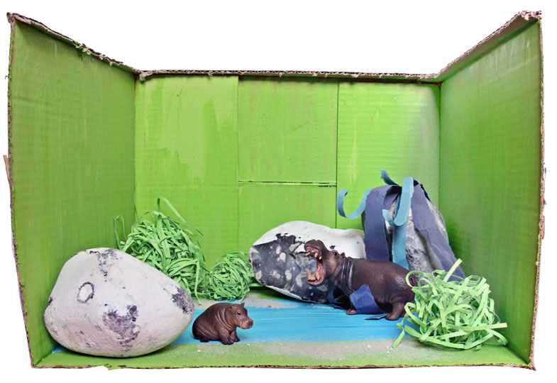 …Nilpferde im Wasserloch…