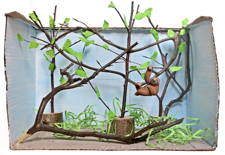 …oder Faultiere im Regenwald. Mit dem Zoo in der Box lassen sich alle Lebensräume nachbauen.